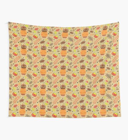 Halloween Hooty Wall Tapestry