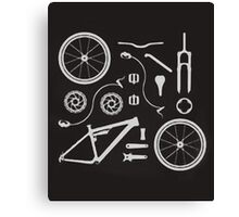 Bike Exploded, Bike Parts Full Suspension Airfix Canvas Print