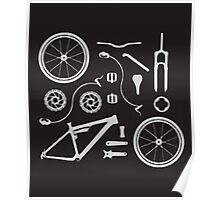 Bike Exploded, Bike Parts Full Suspension Airfix Poster