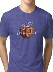 Smile Pumpkin Tri-blend T-Shirt
