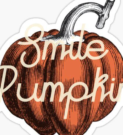 Smile Pumpkin Sticker