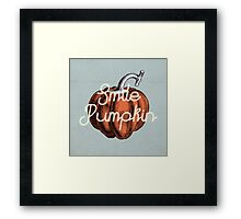 Smile Pumpkin Framed Print