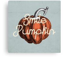 Smile Pumpkin Canvas Print