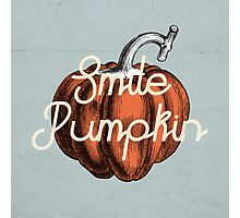 Smile Pumpkin Photographic Print