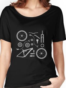 Bike Exploded, Bike Parts Full Suspension Airfix Women's Relaxed Fit T-Shirt