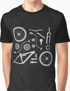 Bike Exploded, Bike Parts Full Suspension Airfix Graphic T-Shirt