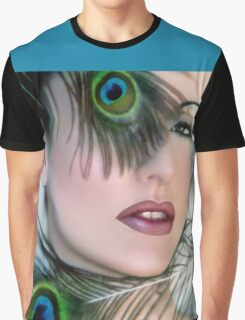 Feathered Beauty - Self Portrait Graphic T-Shirt