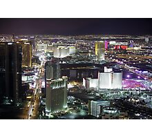 Las Vegas Strip at Night Photographic Print