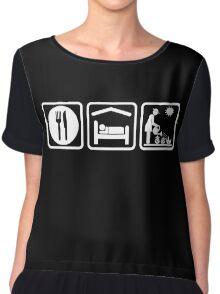 Funny Eat Sleep Gardening Women's Shirt Chiffon Top
