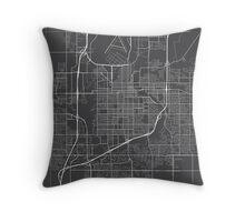 Sioux Falls Map, USA - Gray Throw Pillow