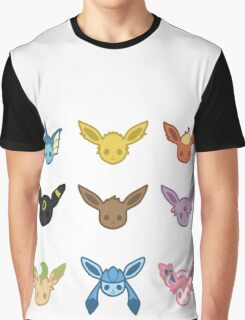 Eevee and Eeveelutions Graphic T-Shirt