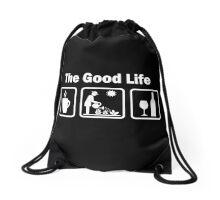Womens Funny Gardening Shirt The Good Life Drawstring Bag