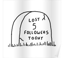 Lost 5 followers today Poster