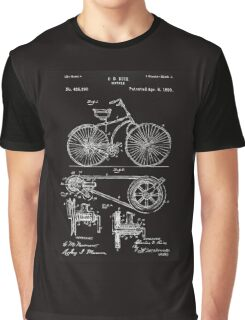 Bicycle Patent Graphic T-Shirt