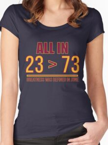 23 Is Greater Than 73 Women's Fitted Scoop T-Shirt