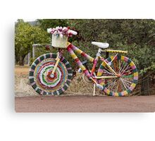 The Knitted Bike Canvas Print