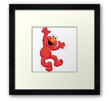 Elmo Happy Framed Print