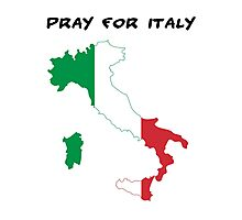 pray for italy Photographic Print
