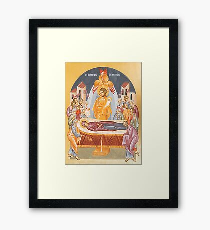 Dormition of the Theotokos Framed Print