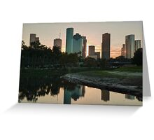 Reflections of Houston Greeting Card
