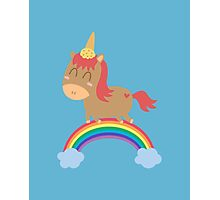 unicorn silly but happy Photographic Print