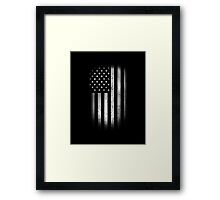 Vintage US Flag Framed Print