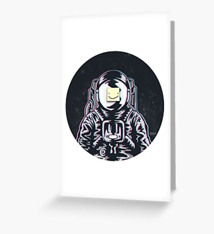 All Smiles in Outer Space Greeting Card