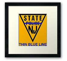 state police new jersey Framed Print