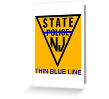 state police new jersey Greeting Card