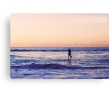 Bondi Beach Paddle Boarder Canvas Print