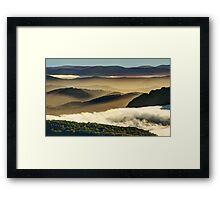High country ridges Framed Print