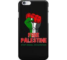 FREE PALESTINE, PRAY FOR GAZA, STOP ISRAEL OCCUPATION, iPhone Case/Skin