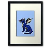 Sapphire the Baby Dragon Framed Print