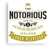 Conor McGregor - Face of the fight game Canvas Print