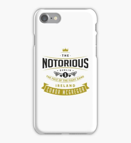 Conor McGregor - Face of the fight game iPhone Case/Skin