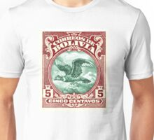 1928 Bolivia Andean Condor Postage Stamp Unisex T-Shirt