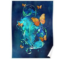 Watercolour Butterfly 06 Poster