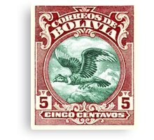 1928 Bolivia Andean Condor Postage Stamp Canvas Print