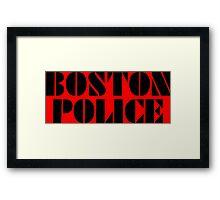 boston police Framed Print