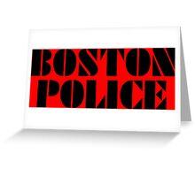 boston police Greeting Card