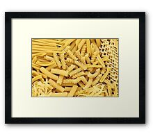 pasta is important Framed Print
