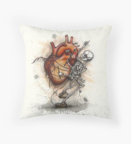 Heart Beater Throw Pillow