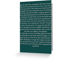 Other guys lion v tuna white text Greeting Card