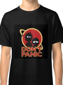 Rick and Morty Don't Panic Classic T-Shirt