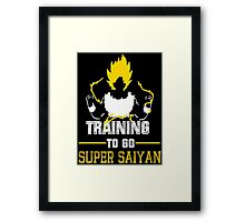 Training to GO SUPER SAIYAN (80) Framed Print