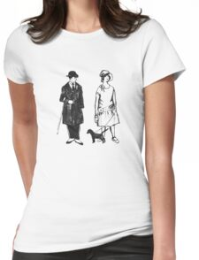 Old Timey Folks Womens Fitted T-Shirt
