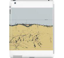 sandy shore. black sea iPad Case/Skin