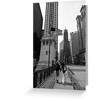 Chicago Stroll - Chicago USA Greeting Card