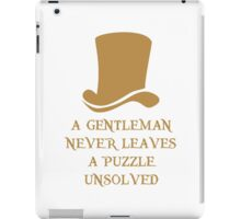 Never leave a puzzle unsolved iPad Case/Skin