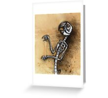 Macaw Marionette Greeting Card